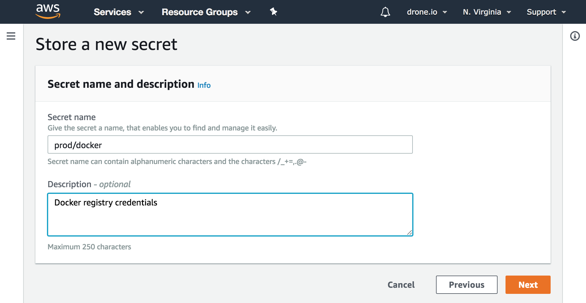 Drone Integration with the AWS Secrets Manager