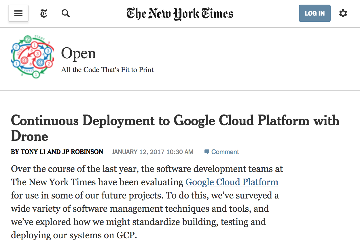 Continuous Deployment to Google Cloud Platform with Drone
